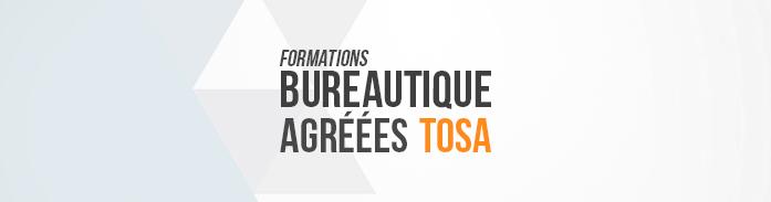 Formations bureautique agréées TOSA