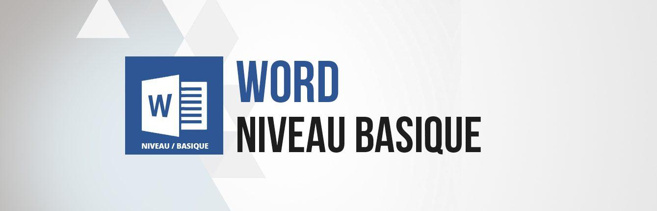 Formation word niveau basique débutant