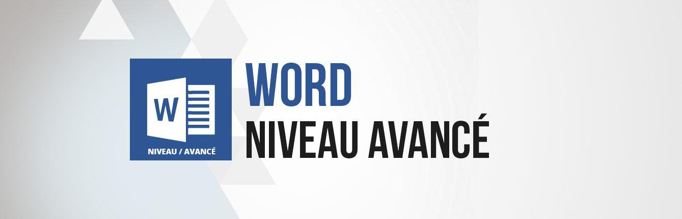 Formation word niveau avancé