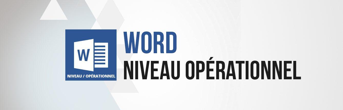 Formation word niveau intermédiaire